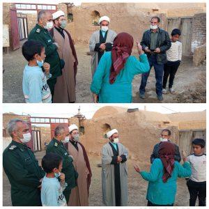 دیدار فرمانده سپاه ناحیه بردسکن با خانواده شبانی در روستای حطیطه