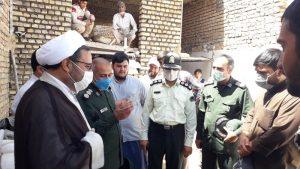 اردوی جهادی  گروه شهید ابراهیم همت برای ساخت یک منزل مسکونی دربردسکن